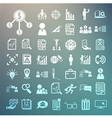 Business icons and Finance icons set2 on Retina ba vector image