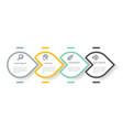 business process diagram infographic presentation vector image