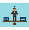 businessman has to make a choice vector image vector image
