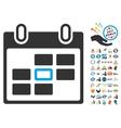 Calendar Day Icon With 2017 Year Bonus Pictograms vector image vector image