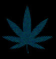 cannabis collage icon of halftone spheres vector image vector image