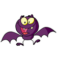 Cartoon Character Happy Bat vector image vector image