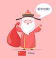 china santa claus placard vector image