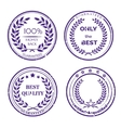Circular Guarantee Label Set on White Background vector image vector image