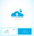 cloud computing logo icon vector image vector image