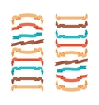 Colorful modern ribbons in trendy style vector image vector image