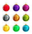 colorfull christmas balls different colors vector image