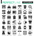 cooking and kitchen classic black mini concept vector image vector image