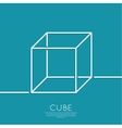 cube on a blue background vector image vector image