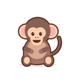 cute little monkey cartoon comic character vector image vector image
