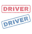 driver textile stamps vector image vector image