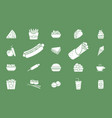 fast food icons 02 vector image