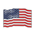 flag united states of america waving colored vector image vector image