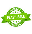 flash sale ribbon flash sale round green sign vector image vector image