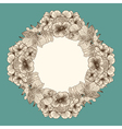 Frame made of vintage flowers vector image