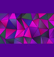 geometric magenta and cyan low poly backdrop vector image