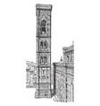 giottos campanile rich sculptural decorations vector image vector image