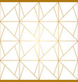 golden lines geometric seamless pattern vector image vector image