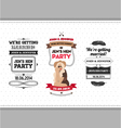 hen party invitation vector image vector image