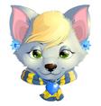 ice fox vector image