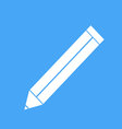 icon pencil on a blue background vector image vector image