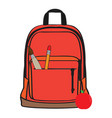 isolated school bag vector image