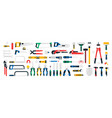 large collection construction tools saws vector image
