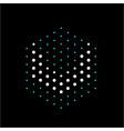 letter u dots polygonal logo vector image vector image