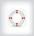 Life Buoy white vector image