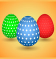 llustration of three easter eggs vector image vector image