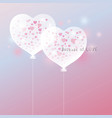 love concept heart balloon design vector image
