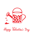 Love watering can with hearts Valentines Day card vector image vector image
