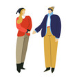 man and woman in winter clothes couple wearing vector image