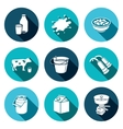 Milk production Icons set vector image vector image
