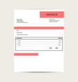minimal invoice template bill sample vector image