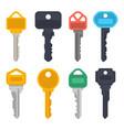 modern keys house door lock or car keys vector image