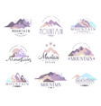 mountain original logo design since 1965 year vector image vector image