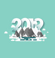 mountains in winter2019 peak with snow nature vector image vector image
