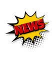 news comic text white background vector image