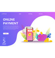 online payment concept set vector image vector image