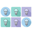 outlined icon of lamp with parallel and not vector image vector image