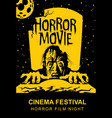 poster for horror movie festival scary cinema vector image vector image