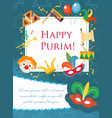 purim carnival poster invitation flyer vector image vector image