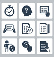 quiz and test related icon set 2
