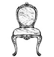 rich classic armchair royal style decotations vector image vector image