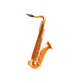 saxophone music wind instrument vector image