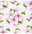 Seamless background pattern with blossoming sakura vector image vector image