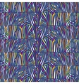Seamless pattern with multicolored Zebra skin vector image vector image