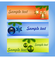set of Christmas banners with baubles vector image