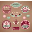 set vintage bakery vector image vector image